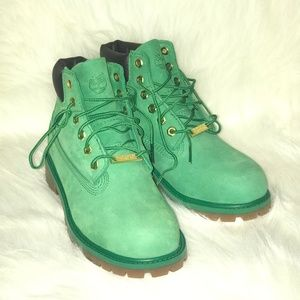 Green Timberland Boots Youth